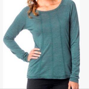 Prana - Green Chrissa Wool Long Sleeve Top - L